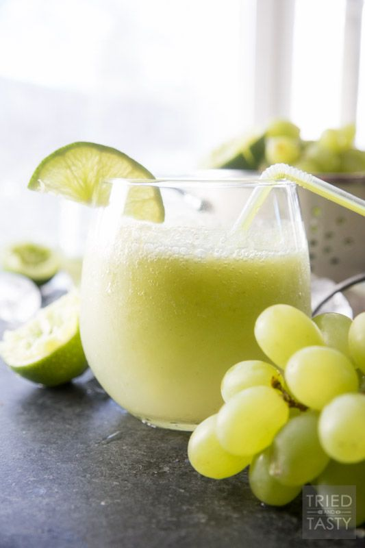 Frozen Grape Lime Rickey // This delicious slush is fantastic for those warm days you need a quick & easy refreshment! Made with only a handful of ingredients and ready in 60 seconds! | Tried and Tasty