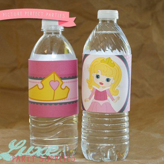 Sleeping Beauty Birthday Party Printable Water bottle Label, Aurora Birthday Party Supplies, Disney Princess Birthday Supply