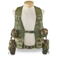 Used U.S. Military Surplus Load Bearing Vest with Pouches
