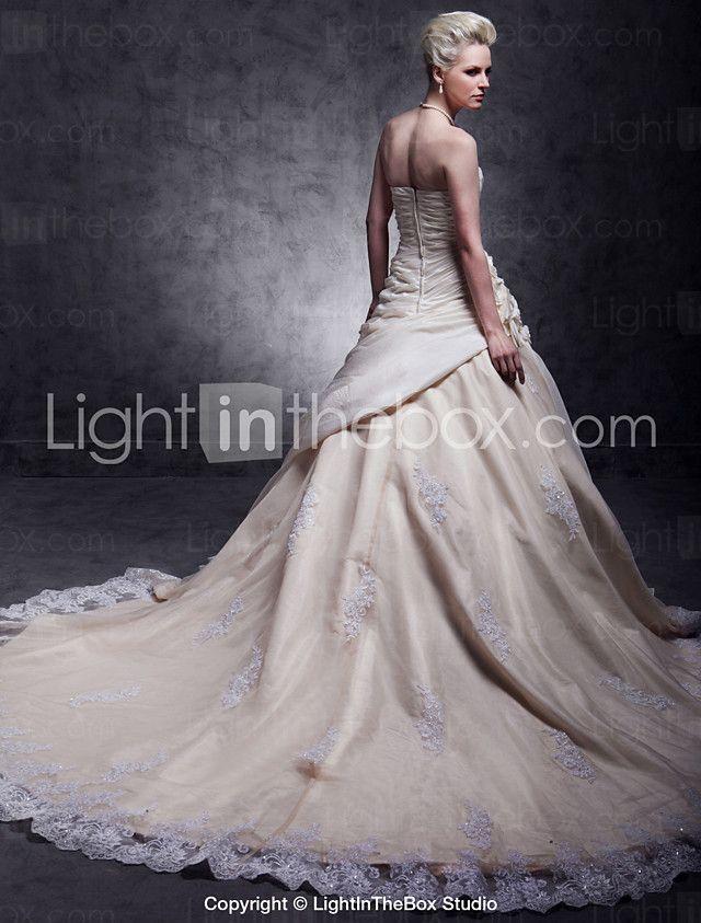 Lanting Bride® A-line Petite / Plus Sizes Wedding Dress - Classic & Timeless / Elegant & LuxuriousWedding Dresses in Color / Vintage 2016 - $249.99