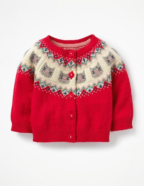 4254396b6856 Fair Isle Cardigan Y0463 Sweaters at Boden