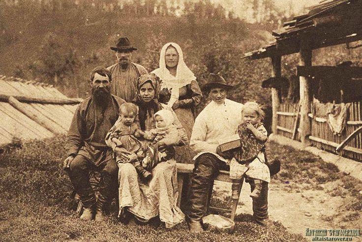 Семья староверов-старожилов в Енисейской губернии