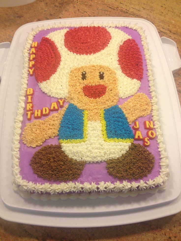 Toad Mario Cake