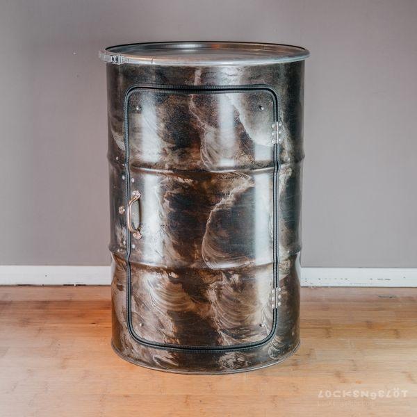 Schrank aus einem Ölfass in 2020 | Hausbar, Ölfass schrank ...