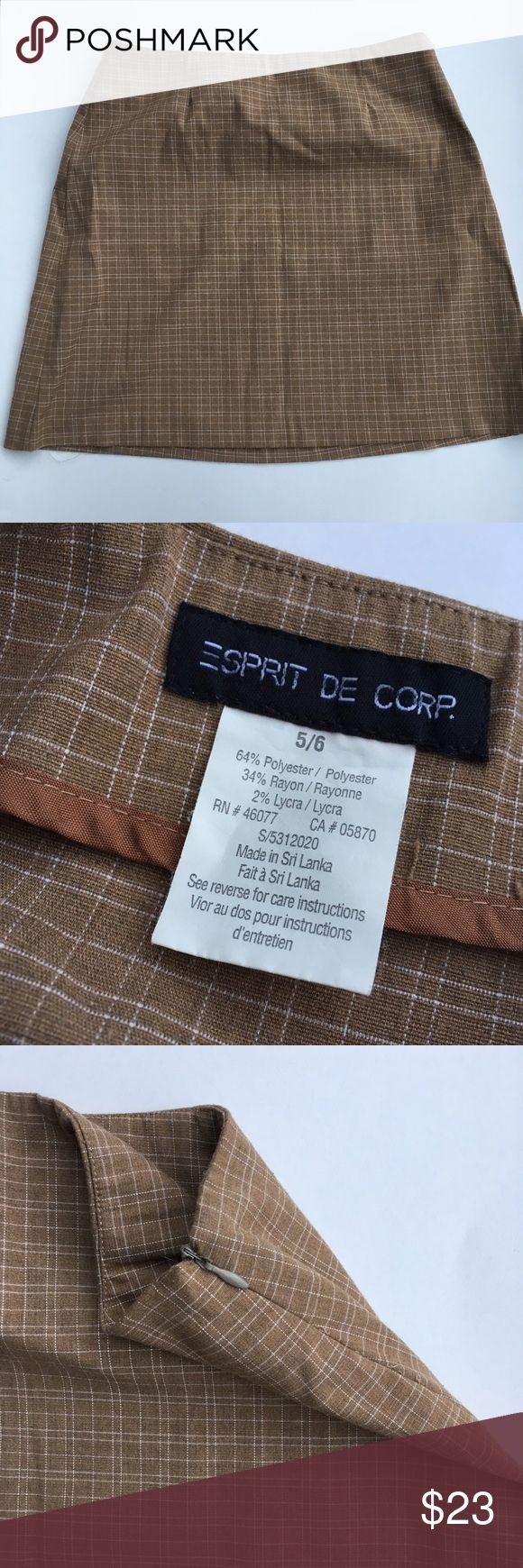 the cutest ever Esprit De Corp. Mustard Skirt the cutest ever Esprit De Corp. Mustard Skirt Side Zip Size 5/6 Esprit Skirts