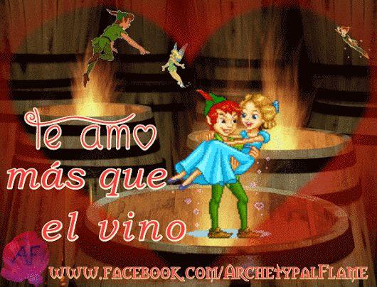 Archetypal Flame - te amo mas que el vino   Peter Pan: Piense pensamientos felices y volar. Archetypal Flame: te amo mas que el vino.  Πίτερ Παν: Κάνε χαρούμενες σκέψεις και πέτα, Archetypal Flame: Σ' αγαπώ πιο πολύ απ, το κρασίPeter Pan : Think happy thoughts and fly. Archetypal Flame: I love you more than wine.  #alma, #beloved #PeterPan #Happy #thoughts #archetypal #flame #wine #fun #love #valentine #queridas, felice, #volar, #ArchetypalFlame, #vino. #alegría, #SanValentin #Amor, #Luz.