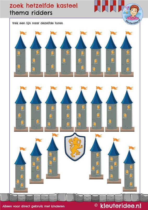 542 best images about thema ridders en kastelen kleuters for Werkbladen ridders en kastelen