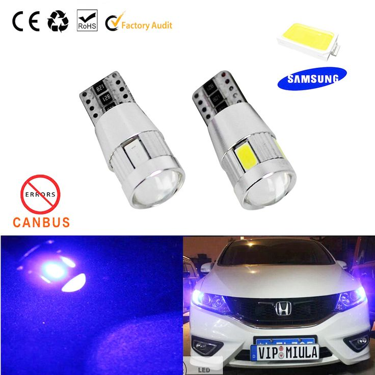 Free shipping 1X Car styling led T10 194 Canbus Error Free Bulb OBC W5W LED 6-SMD 5630 Lens Projector Aluminum Parking car Lamp