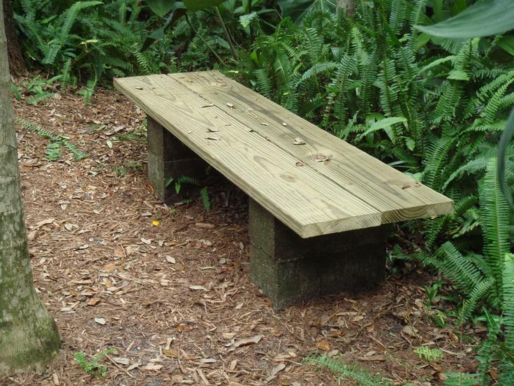 Simple bench design for outside garden
