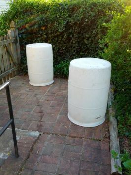Make Rain barrels out of used food grade barrels.