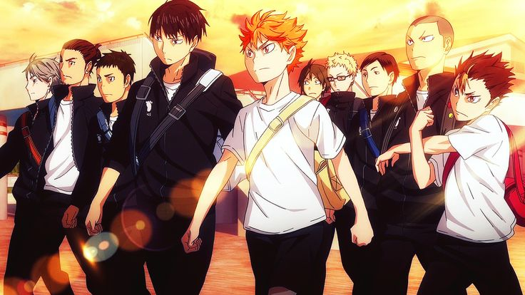 Look at these intense volleyball nerds haikyuu anime
