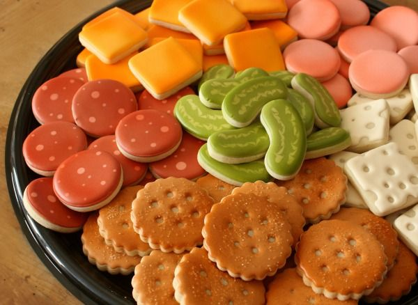 I love cookies that look like other foods! Deli Tray Cookie Platter from Sweet Sugarbelle