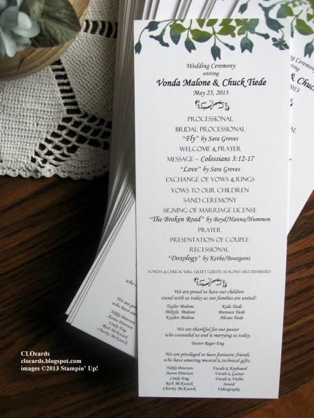 24 Best Images About Wedding Programs On Pinterest