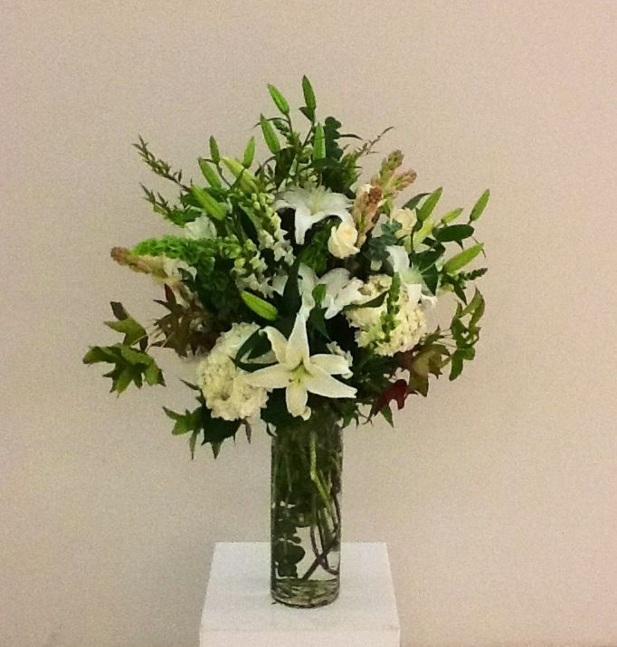 White Lilies And Other Flowers
