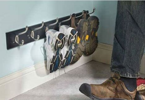 Stop stumbling over shoes laying around on the floor! Here are 33 amazing ideas for storing shoes off the floor...  http://www.homesteadingfreedom.com/33-amazing-ways-to-store-family-shoes-off-the-floor/