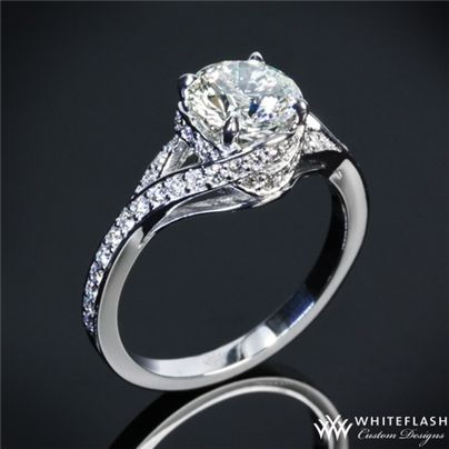 Pave Wrap Diamond Engagement Ring   15501