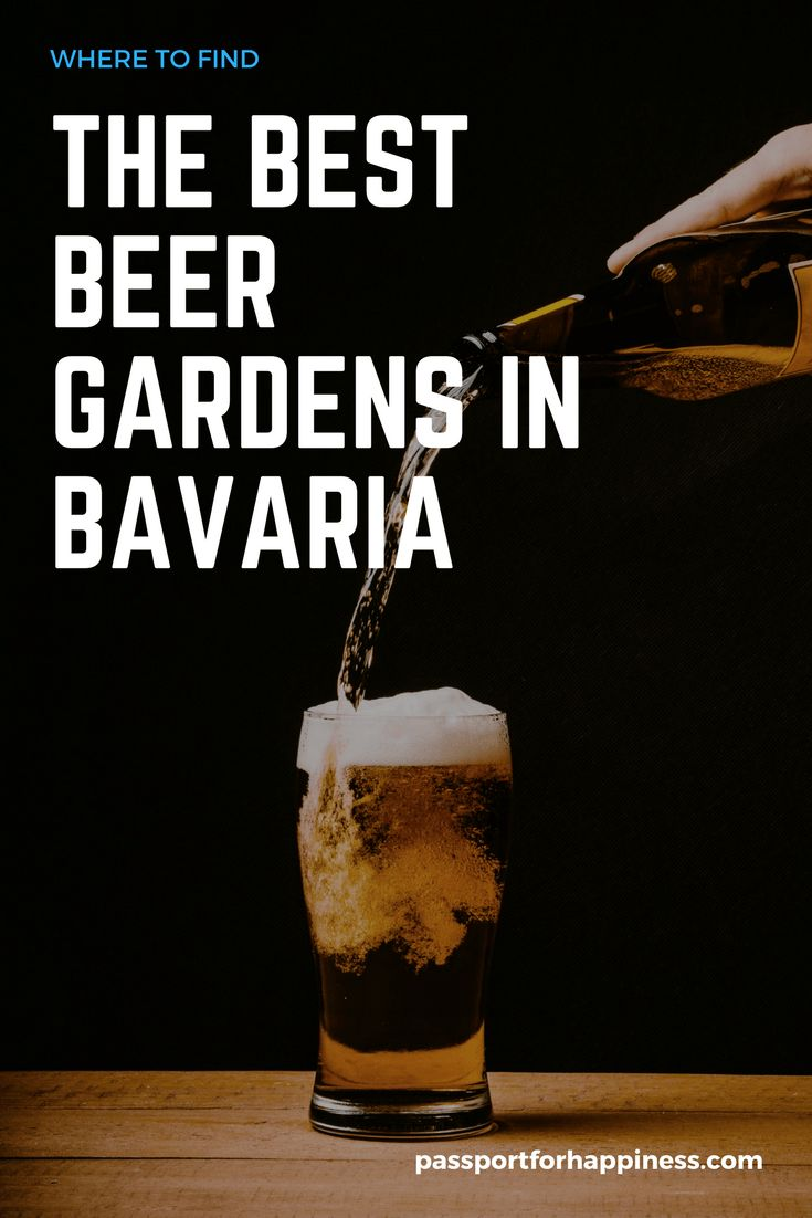 """August 1 is """"International Beer day!"""" Find the best beer in Munich to celebrate at a biergarten (beer garden) and have a delicious pretzel to go with it!"""