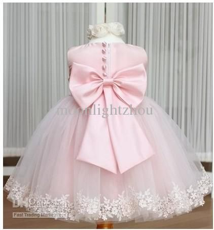 Wholesale Dress - Buy 2014 Baby Girl's Dress Kids Girl Party Dress Wedding Pink Flower Princess Dresses Jazz Style Black Dress with Rose Tie Bow Tcq 009 TuTu Lj, $14.91   DHgate