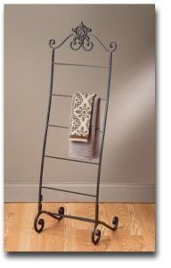 Free Standing Towel Rack.  Baby blanket holder spray pained white
