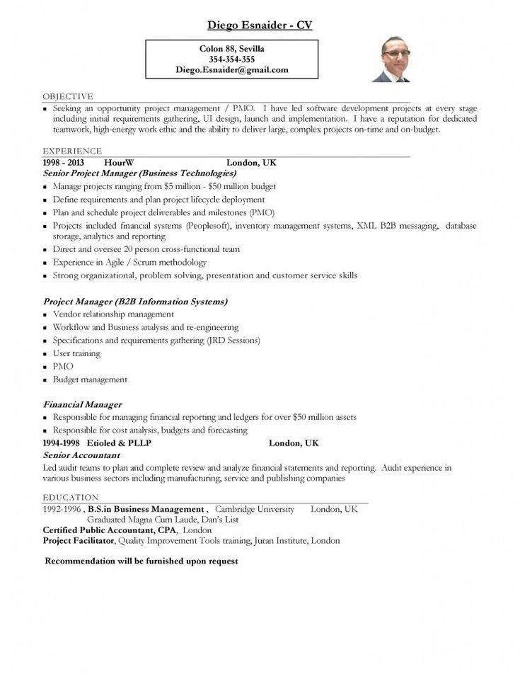 ejemplos de resume para empleo