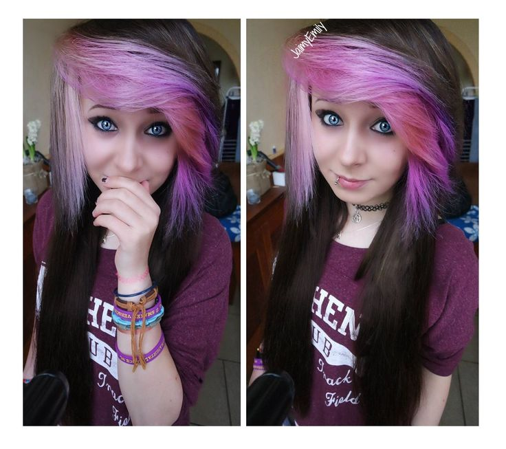 Pink/purple hair