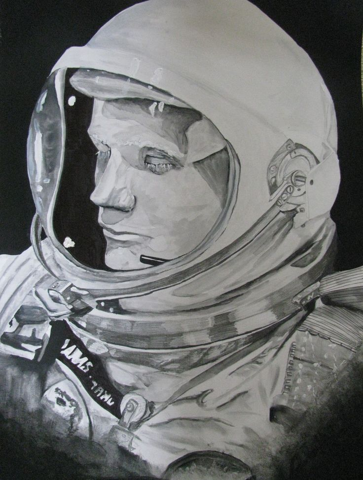 detailed drawings of astronauts - photo #5