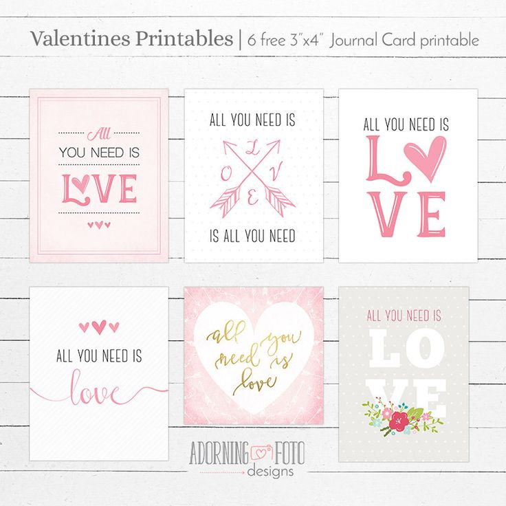 Free Valentines Journal Card Printable | Adorning Fotos {newsletter subscription required}