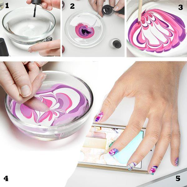 Cómo Pintar Uñas En Agua Como Pintarse Las Uñas Pintar