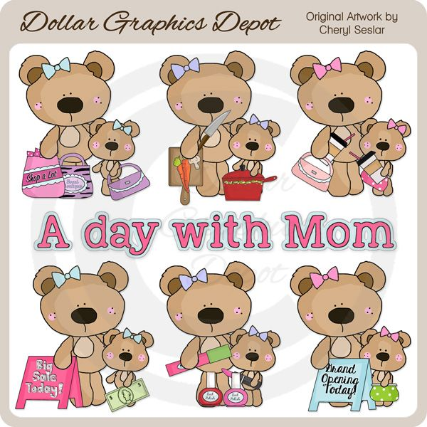 A+Day+With+Mom+-+Clip+Art+-+$1.00+:+Dollar+Graphics+Depot,+Quality+Graphics+~+Discount+Prices