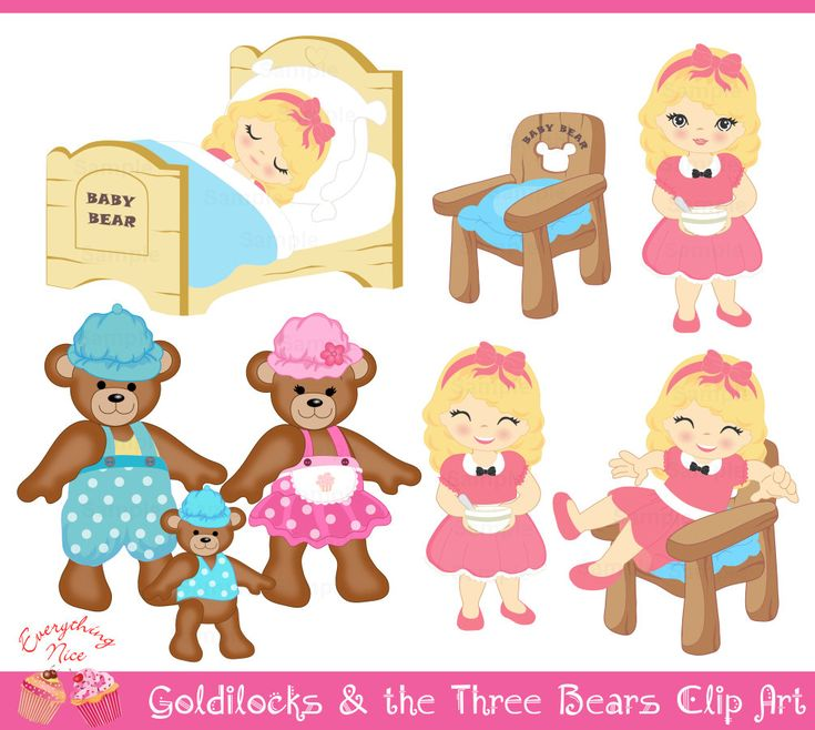 Goldilocks and the Three Bears Clip Art Set by 1EverythingNice