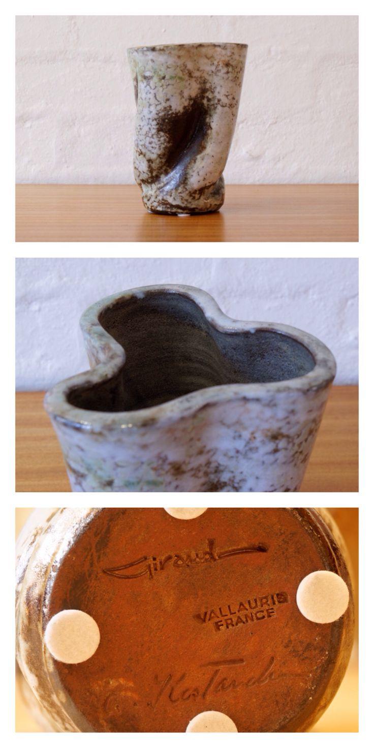 Alexandre Kostanda mottled ceramic vase. French, c.1950.