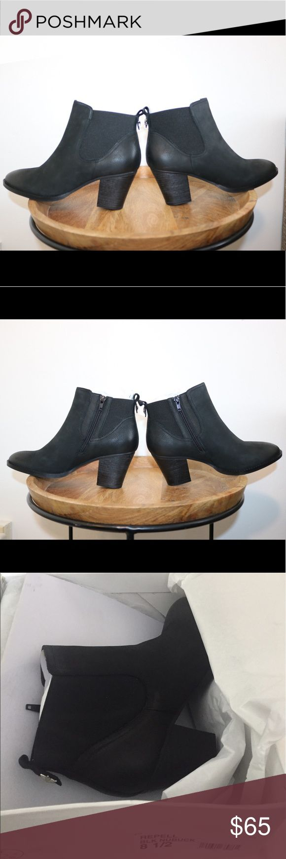 NIB Steve Madden Repell Black Nubuck Booties Brand new in box. 3 pairs available. Please note photos were taken with a high resolution camera so things that may look like flaws are just lighting and resolution. I disclose all issues within the item description. Steve Madden Shoes Ankle Boots & Booties