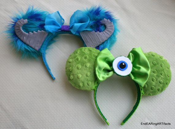 Mike and Sulley Mouse Ears Set of Two by EndEARingARTifacts
