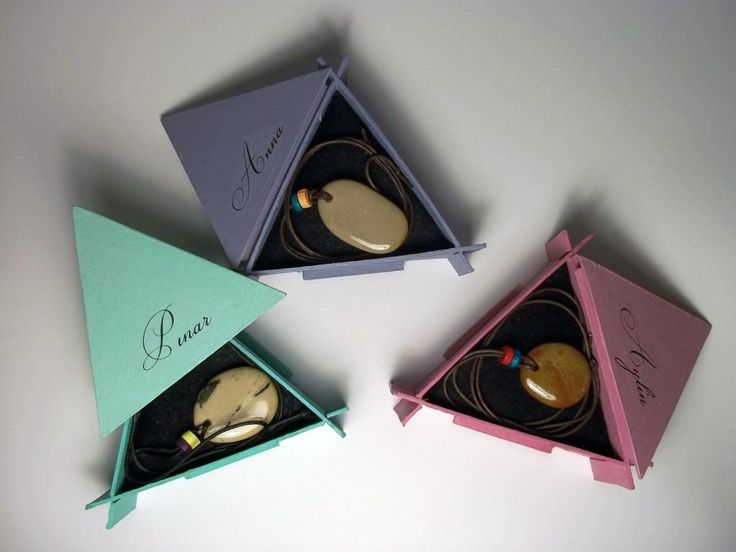 CuStome made pendantS and gift boxeS.
