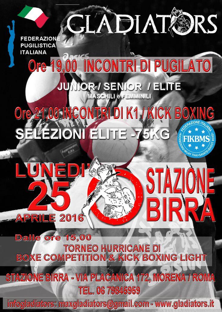 PUGILATO & KICK BOXING a Stazione Birra - Roma 25 aprile