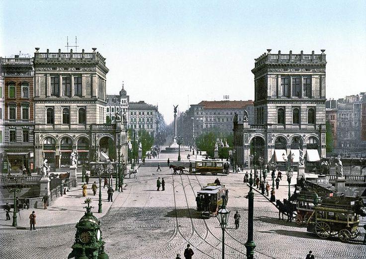 Berlin Belle Alliance Platz   (ca. 1900).