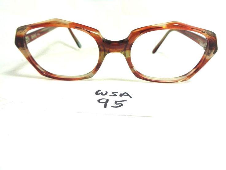 Nos Vtg 1960's MARINE USA Spellbound Eyeglass Frame MA4500 Cranberry (WSA-95) #MarineUSA #Round