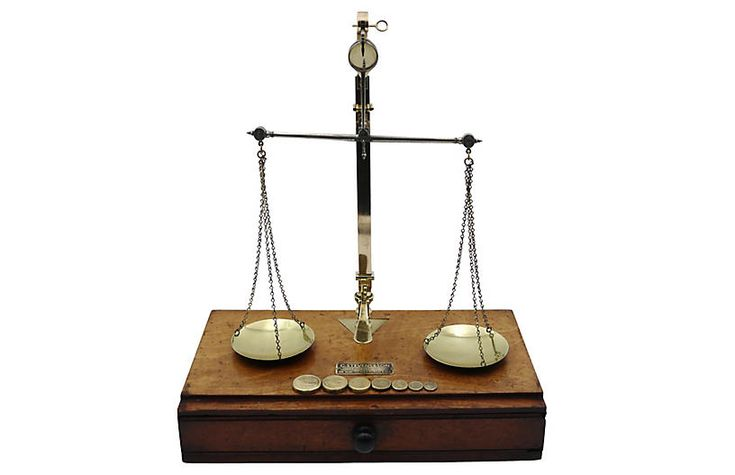 Antique English Jewelry Scale $375.00