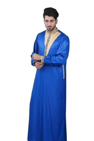 CHM106- Smart Royal Blue Thobe