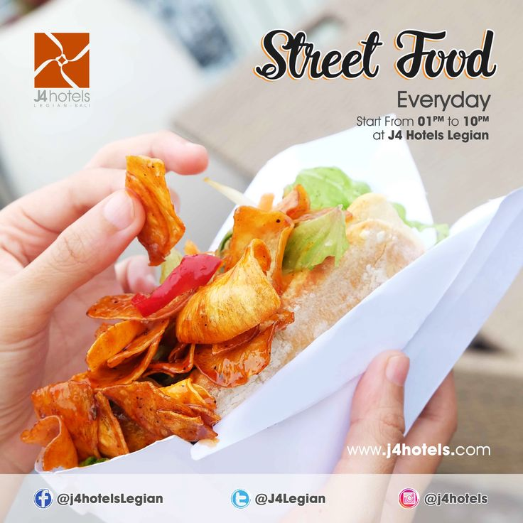 Up for a treat? You should come and try our street food 😊 . . . #LegianBali #HotelLegianBali #J4hotelslegian #J4hotels #LifestyleHotel #Lifestyle #Hotel #Holiday #InstaTravel #HotelLegianBali #Vacation #Weekend #Young #Wanderlust #Destination #LegianStreet #Honeymoon #Bali #Indonesia #Lunch #HappyStomach #Yum #Delicious #Tasty #Hungry #Food #Healthy