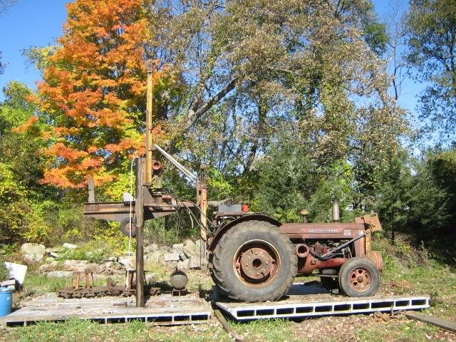 Pile Driver by Wardner -- Homemade pile driver constructed from channel and hydraulics. http://www.homemadetools.net/homemade-pile-driver-2
