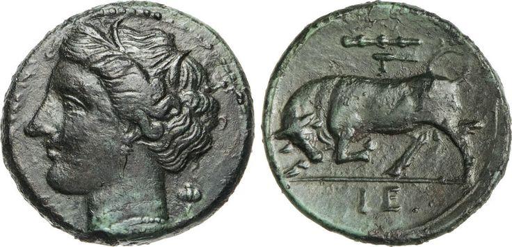 NumisBids: Numismatica Varesi s.a.s. Auction 65, Lot 16 : SICILIA - SYRACUSAE - GERONE II (275-269 a.C.) Ae 19. D/ Testa di...