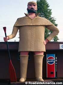 Another find for my bucket list of posing by giant oddities.  OK....pantsless.  That just calls for photographing.  LOL  Pierre the Pantsless Voyageur in Two Harbors, MN