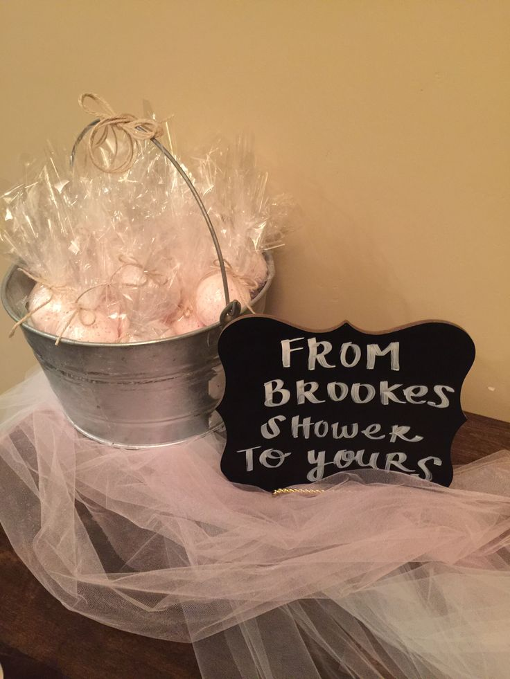 Bridal shower party favor bath bombs