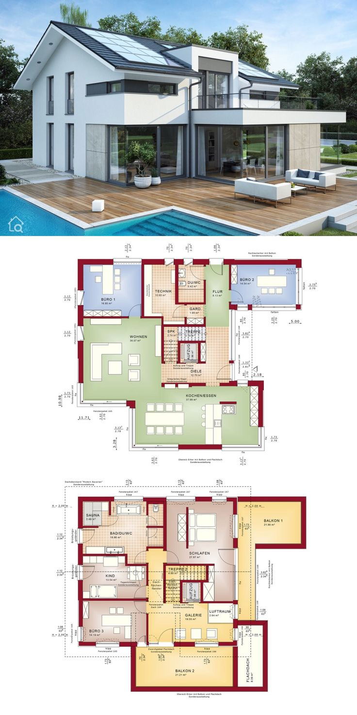 Luxury House Plans with 5 Bedroom & Pool Terrace M…