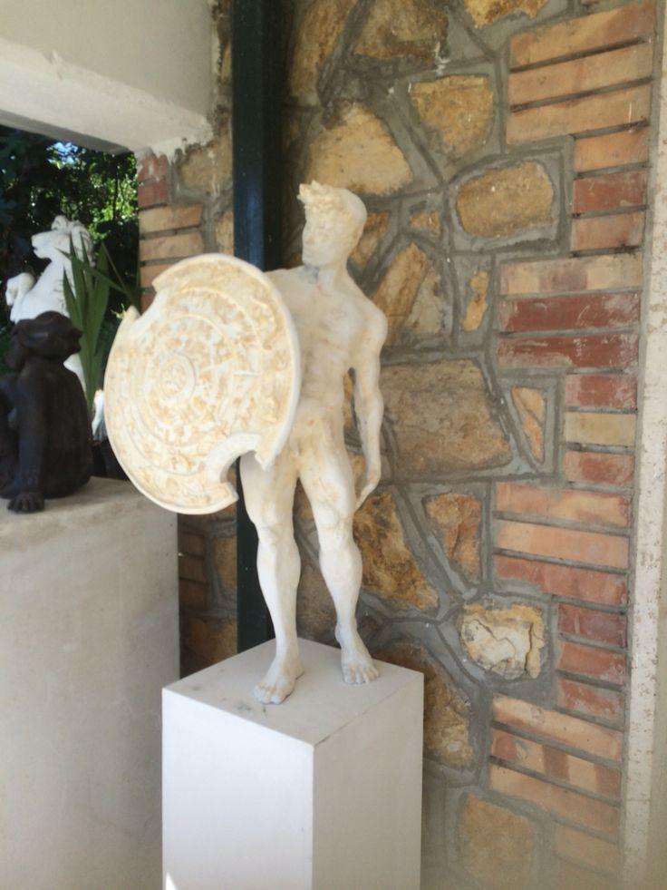 """""""Lo scudo di Achille"""" in fase di finitura.."""