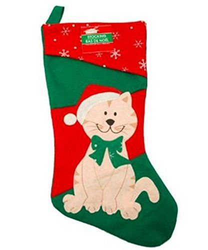 16 12 Inch Felt Christmas House Family Pet Christmas Stocking Cat *** See this great product.