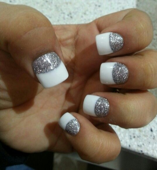 Blue Prom Nails French Tip: 25+ Best Ideas About Glitter Solar Nails On Pinterest