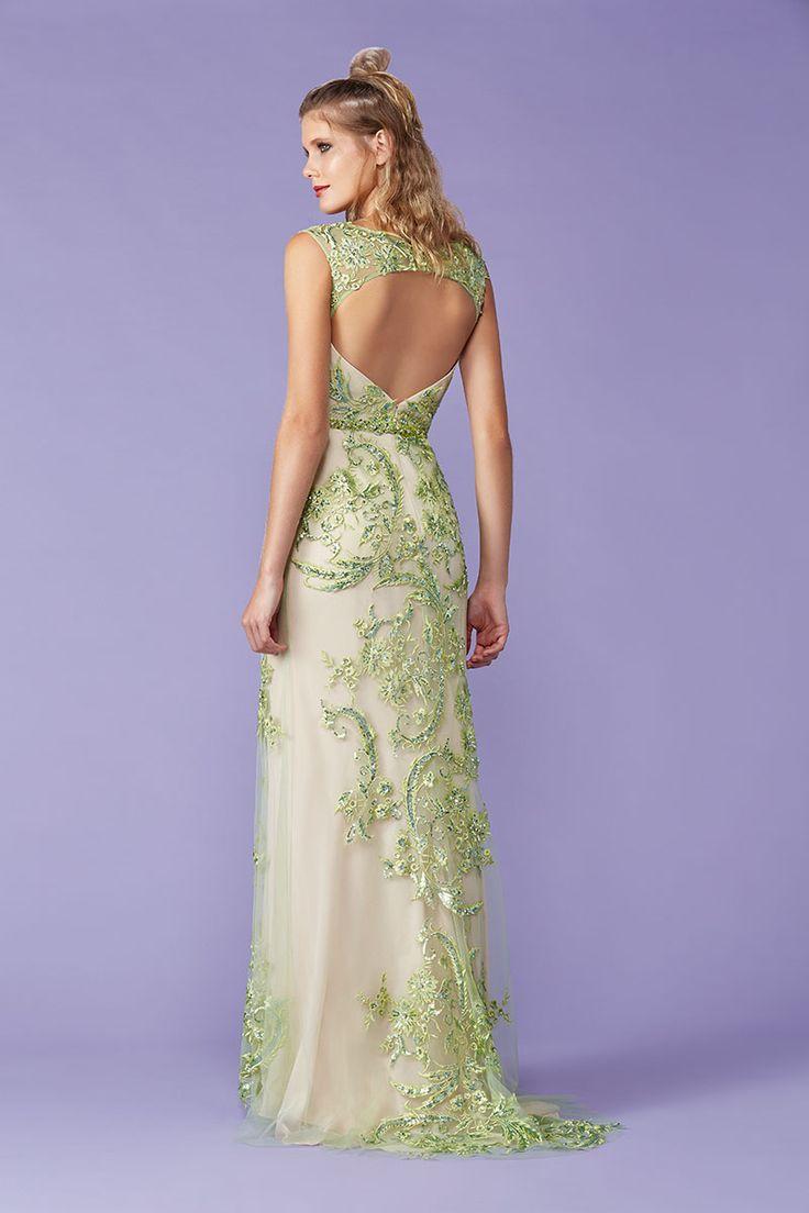 Excepcional Esmeralda Vestidos De Cóctel Verde Bandera - Vestido de ...
