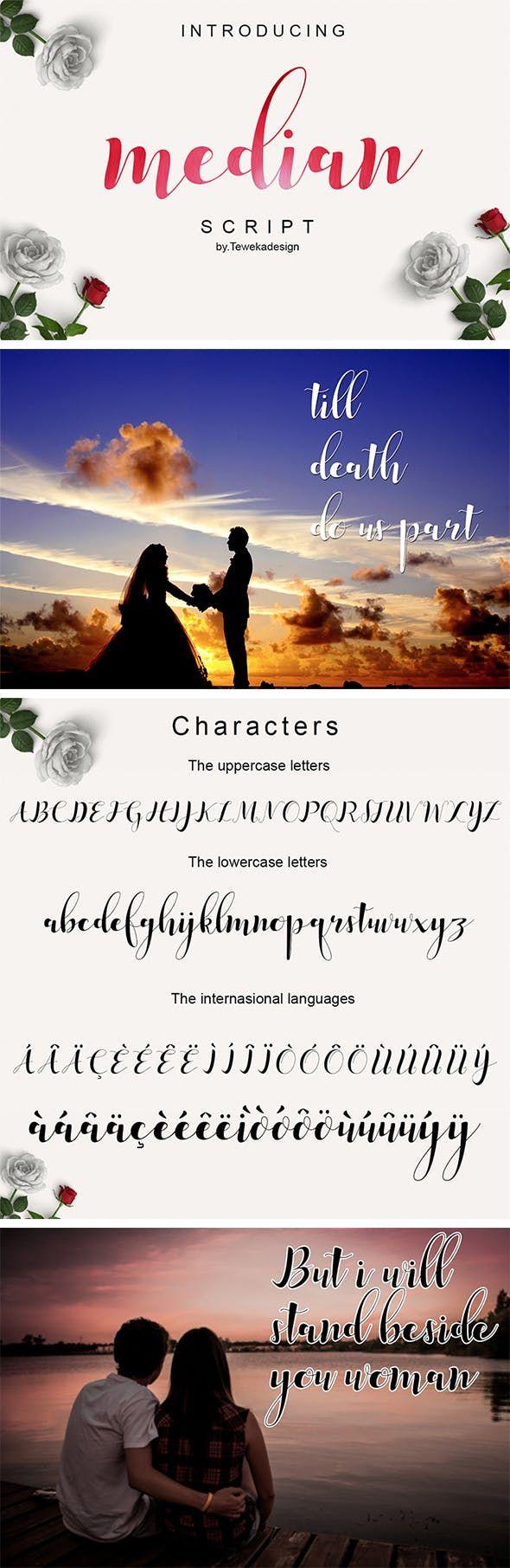 Median Script Edgy fonts, Best fonts for logos
